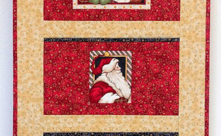 Christmas Card Holder Quilted Wall Redneedlequilts