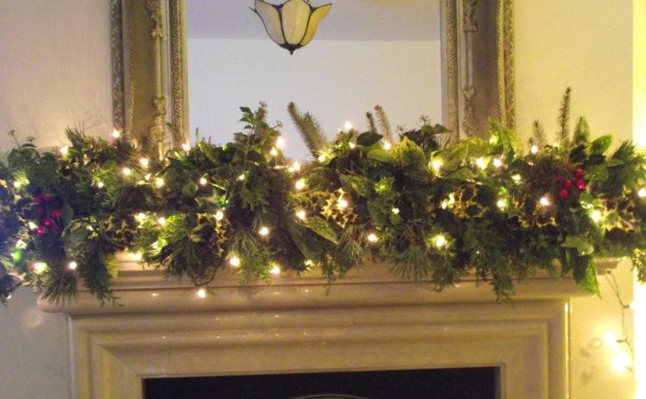 Christmas Fireplace Garland Ideas Inspirationseek