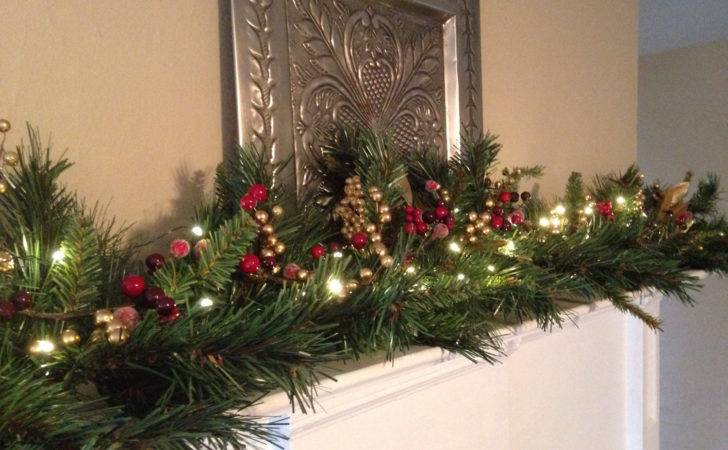 Christmas Garland Lights Mantle Pixshark