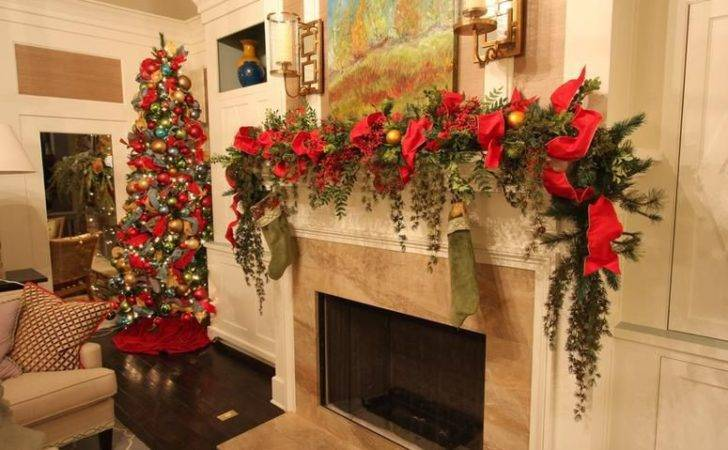 Christmas Mantel Garlands Happy Holidays