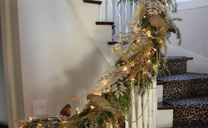 Christmas Staircase Decor Ideas Love