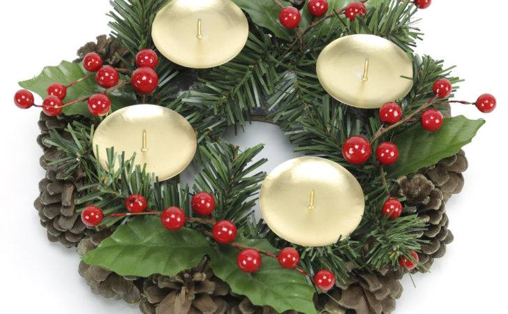 Christmas Table Centre Piece Candle Holder Achica