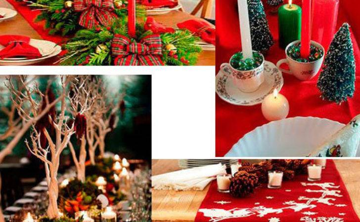 Christmas Table Decoration Ideas Photograph