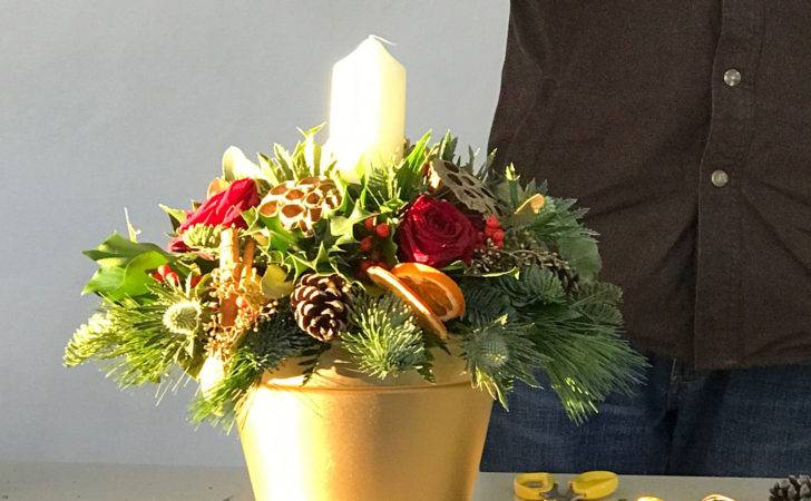Christmas Table Decoration Rural Skills Centre