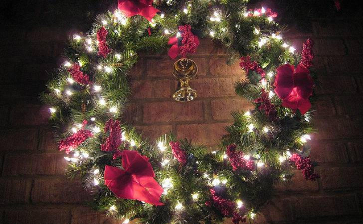 Christmas Wreath Over Fireplace Flickr Sharing