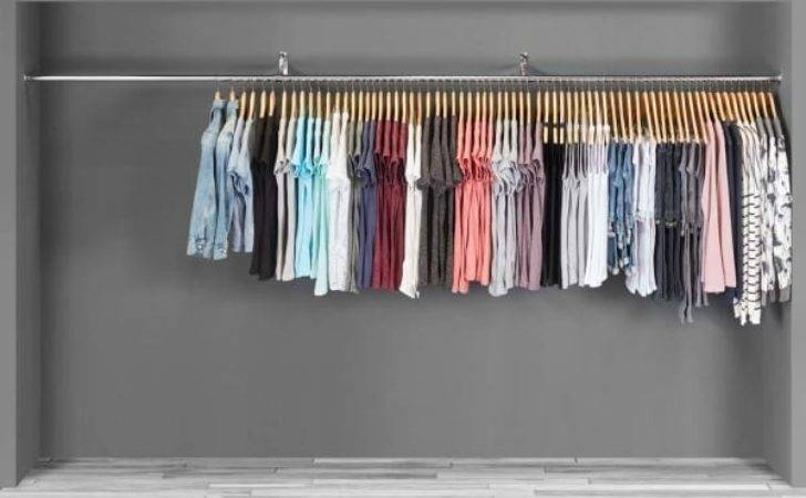 Chrome Tube Hanging Clothes Garments