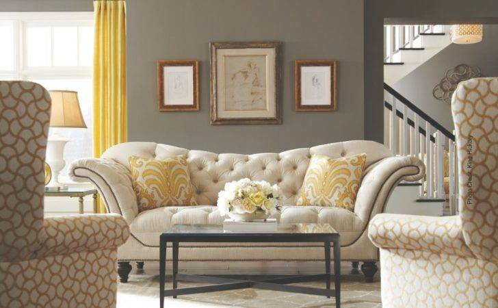 Classic Living Room White Tufted Crypton Fabric