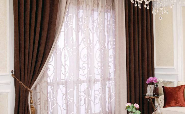 Classic Modern Contemporary Curtains Chenille Fabric