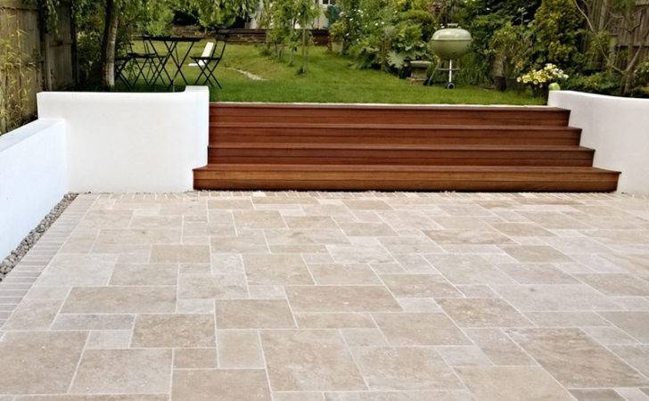 Classic Travertine Paving Tumbled Unfilled