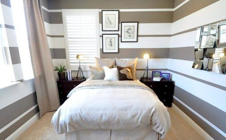 Classy Bedrooms Striped Walls Rilane