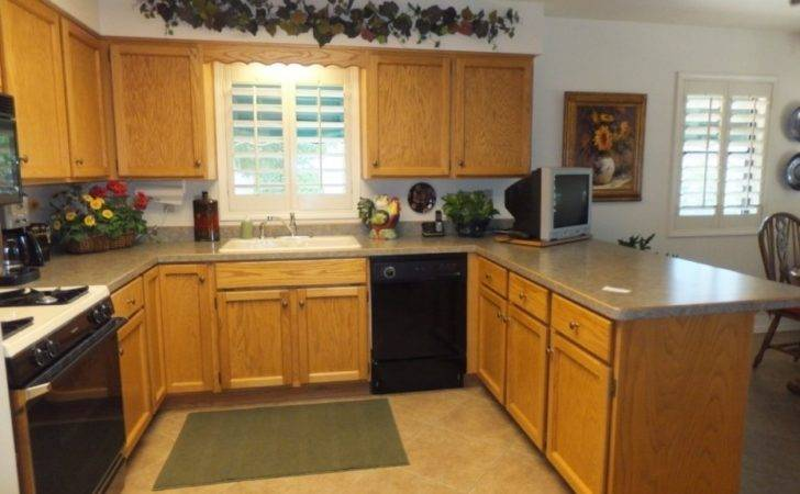 Clean Wood Cabinets Kitchen