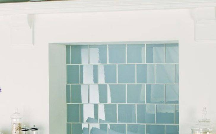 Clear Glass Tiles Original Style Kitchen