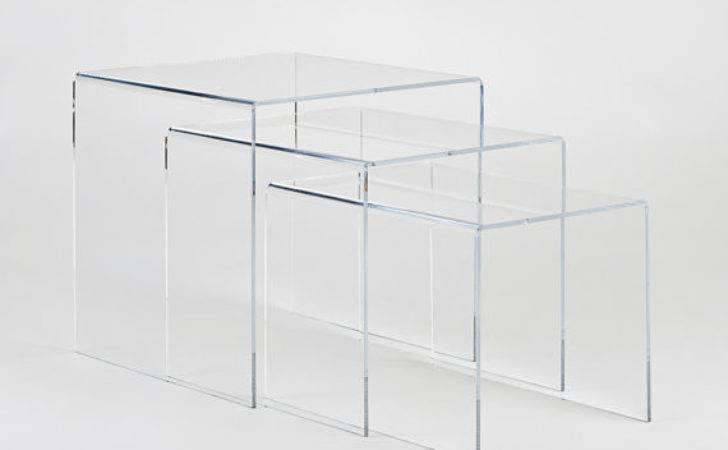 Clear Perspex Acrylic Nest Tables Set Made