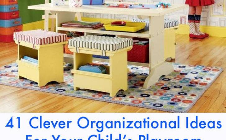 Clever Organizational Ideas Your Playroom