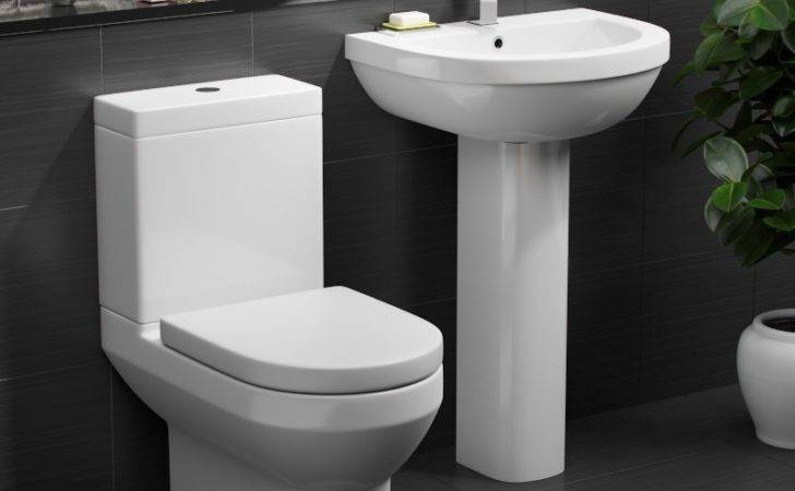 Cloakroom Toilet Basin Set Sink Suite Soft Close