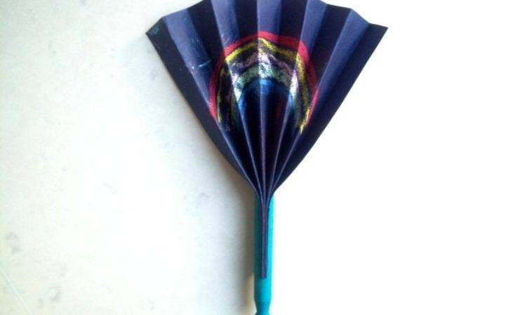 Clothes Peg Fan Craft