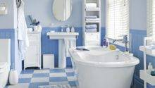 Coastal Style Blue White Floor Tiles Bathroom Tile