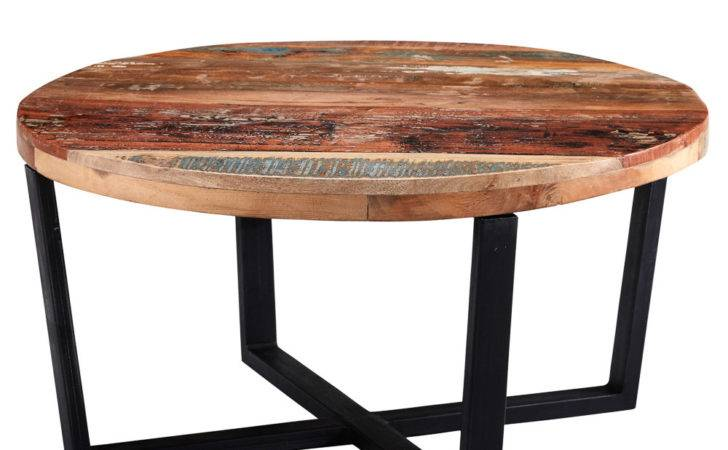 Coastal Wooden Round Coffee Table Next Day Delivery