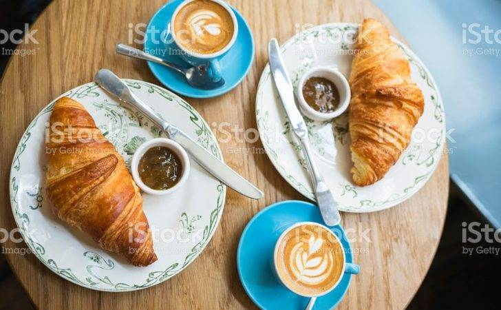 Coffee Croissant French Style Breakfast Cafe