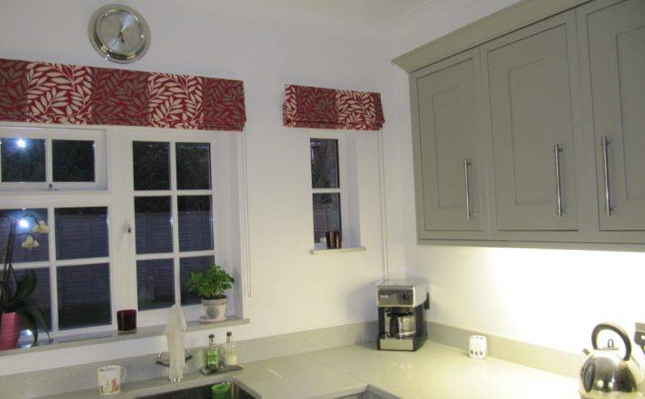 Collection Red Roman Blinds Kitchen Curtain Ideas