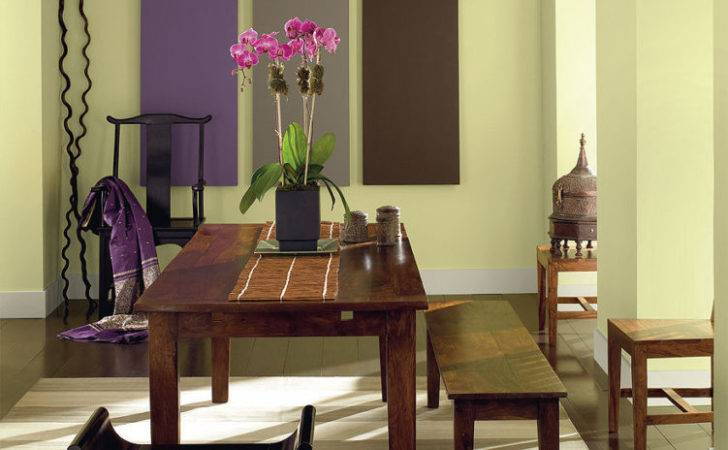 Color Scheme Dining Room Area Green