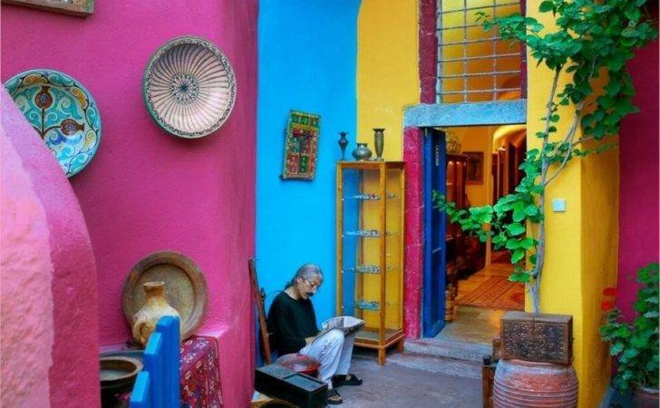 Colorful Greek Houses Pixdaus