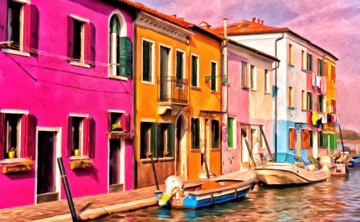 Colorful Houses Burano Michael Pickett
