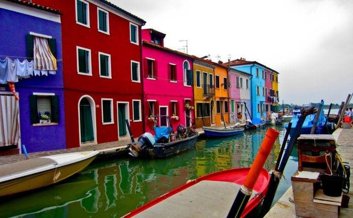 Colorful Houses Island Murano Italy