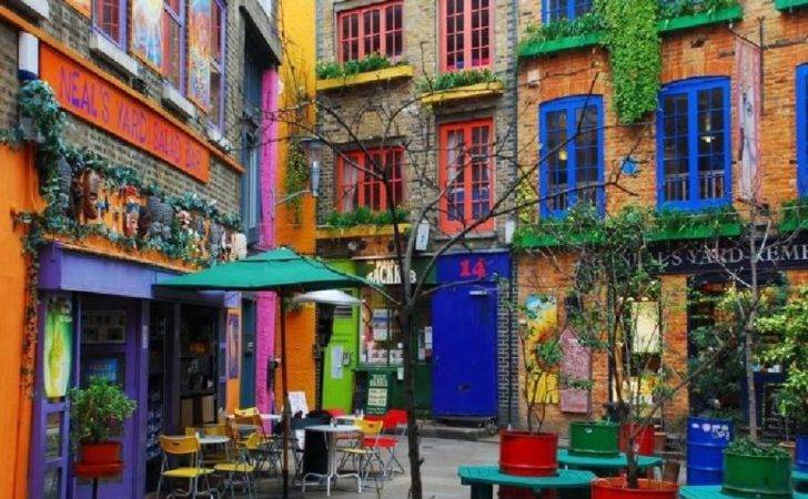 Colorful Houses Neal Yard London Pixdaus