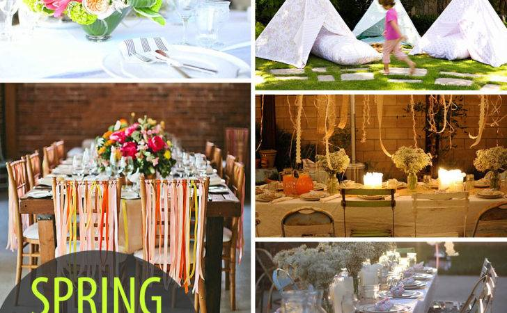 Colorful Spring Party Ideas