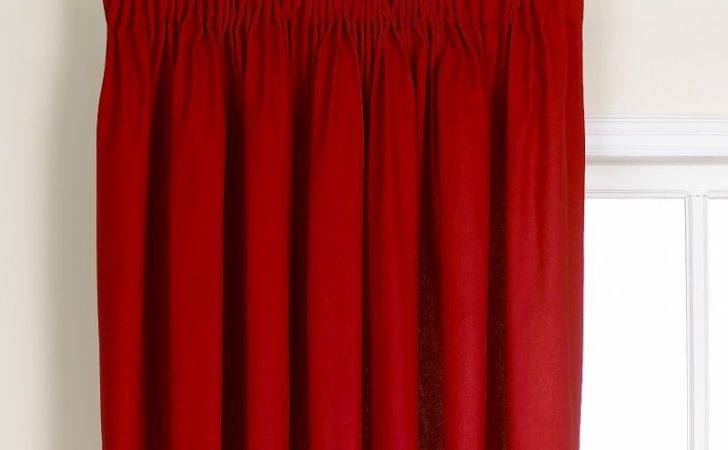 Colours Mali Pleated Curtains Red Customer