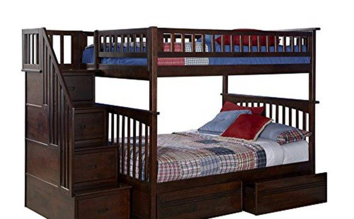 Columbia Staircase Bunk Bed Flat Panel Drawers