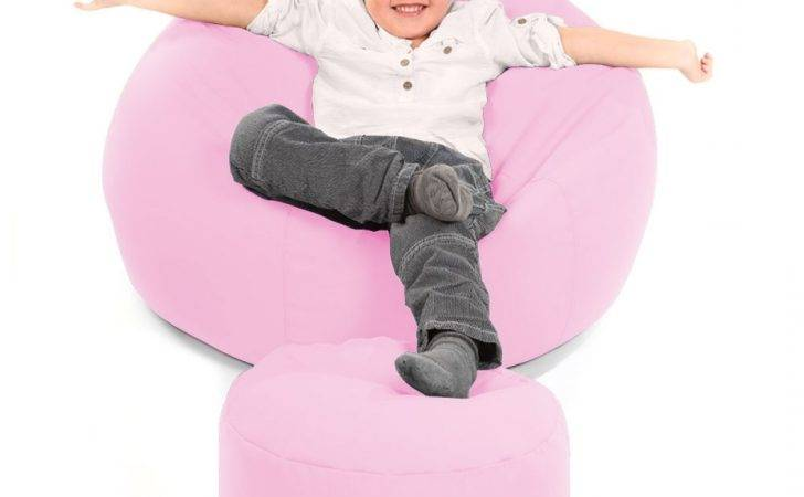 Comfy Toddler Armchair Pink Beanbag Chair Kids Bean Bag