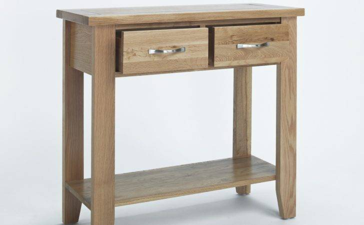 Compton Solid Oak Furniture Small Hallway Console Hall Table
