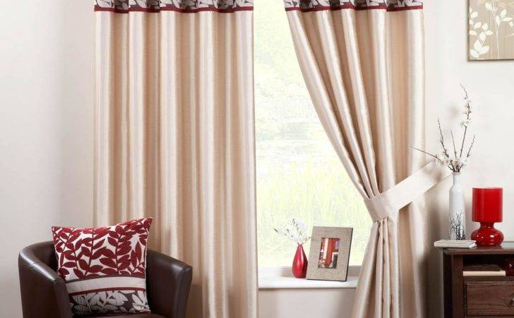 Coniston Eyelet Lined Curtains Red Delivery