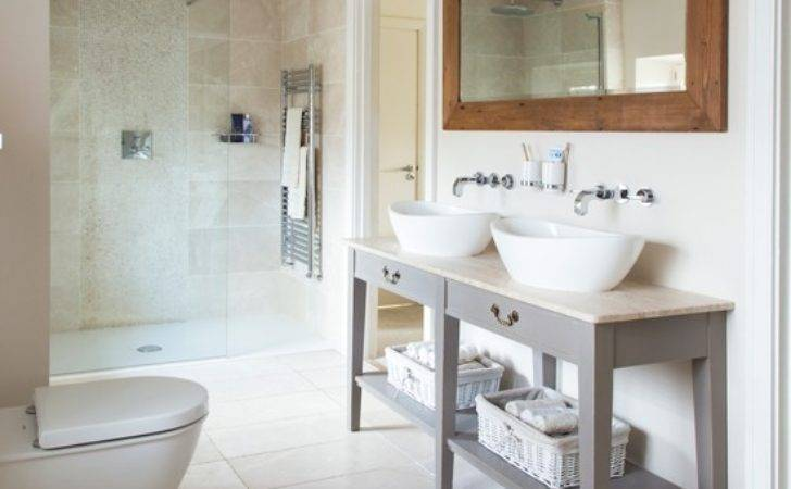 Contemporary Bathroom Country Style Touches