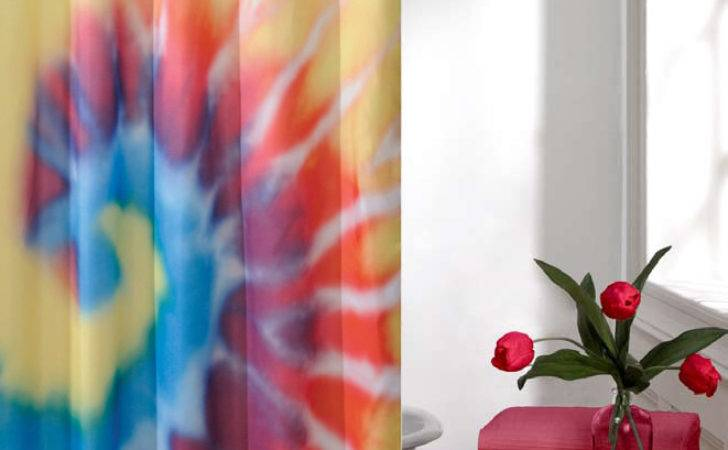Contemporary Bathroom Decoration Chic Tie Dye