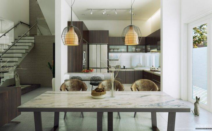 Contemporary Dining Room Chairs Pendant Lamp Olpos Design