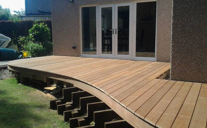 Contemporary Hardwood Decking Project Thackley West