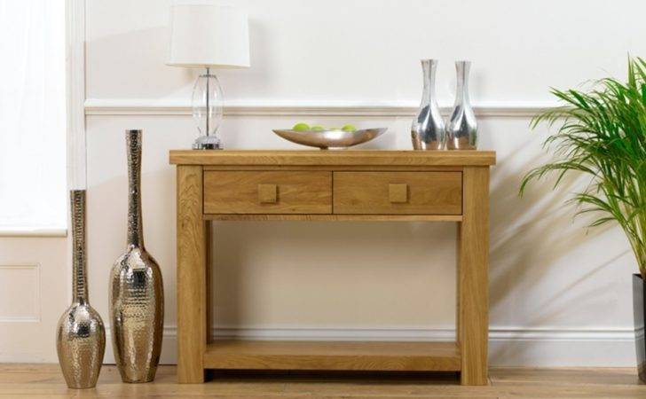 Contemporary Small Console Table Hallway