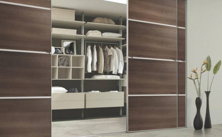 Contemporary Walnut Sliding Wardrobe Doors