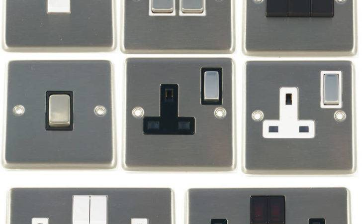 Contour Brushed Stainless Steel Light Switches Plug