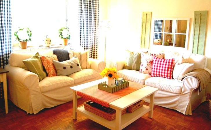 Cool Country Style Living Room Decorating