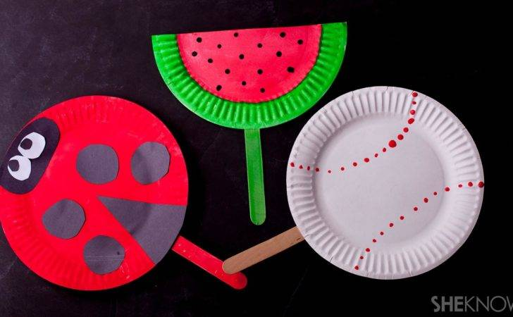 Cool Craft Transform Paper Plates Into Colorful Fans