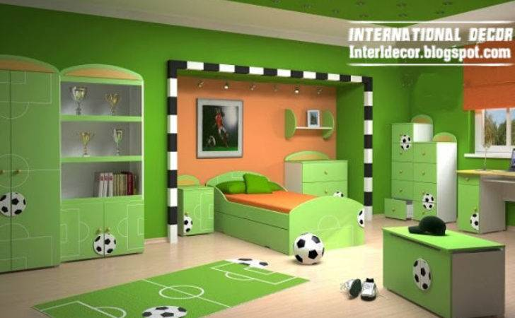 Cool Sports Kids Bedroom Themes Ideas Designs