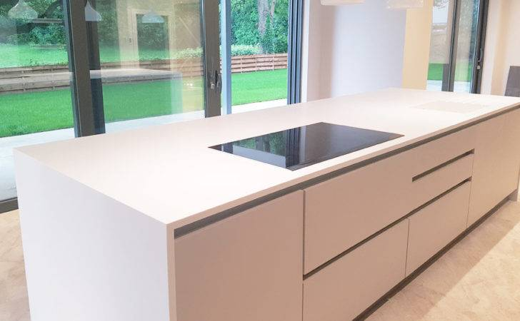 Corian Kitchen Island Worktop Installation Milton Keynes