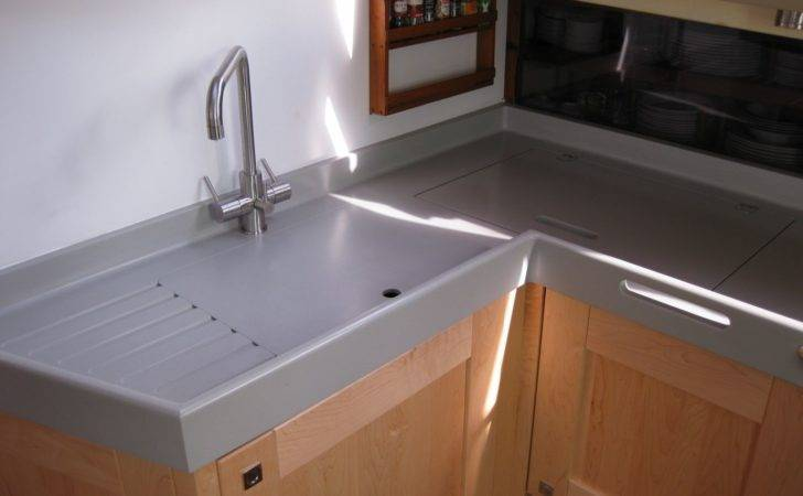 Corian Warm Grey Marine Worktops Solidity