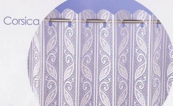 Corsica Pleated Lace Blind Curtain Curtains