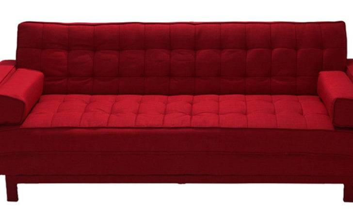 Cosy Supersoft Sofa Bed Armrest Red Colour