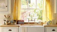 Cottage Kitchen Curtain Ideas Interior